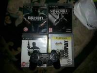 Ps3 controller & 4 games