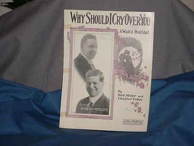 DUNHAM AND WILLIAMS Why Should I Cry Over You 1922