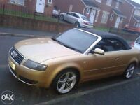 Audi A4 cabriolet 2.5 tdi 2003 111.200 miles 6 gears tiptronic new 12 months mot