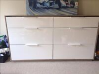 "IKEA ASKVOL 6 DRAWER CHEST, 32"" & 40"" 3D SONY TV, BEDLRAY POWERFUL HAND HELD HOOVER & IRONING BOARD"