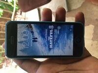 APPLE IPHONE 5C 16GB BLUE,UNLOCKED TO 02 TESCO GIFF GAFF,GOOD CONDITION