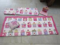 NEXT cupcake single duvet cover throw cushion & shelf girls bedroom set