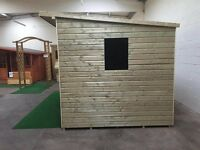 garden sheds any size or spec free installation and free 51 kg torch on felt