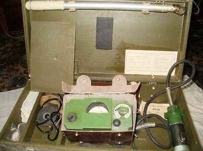 Military Geiger Counter Dosimeter Dp-5v With Sbm-20 Sts-5 Si3bg Tube A B Set