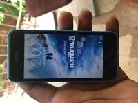 APPLE IPHONE 5C 16GB BLUE,UNLOCKED TO 02 TESCO GIFF GAFF,GOOD CONDITION