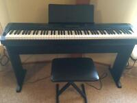 Casio piano CDP-220R & Stand, bench,pedal -88 full size keys