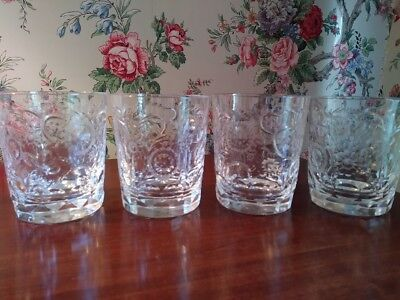 Tharaud Designs Brookdale Double Old Fashion - Set of 4 - Copper Wheel Engraving