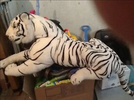 Large tiger soft toy