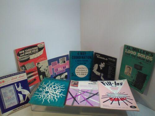 Lot of 9 Assorted Vintage Drum Instruction Books