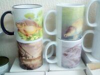 joblot of 10 carp fishing mugs