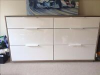 IKEA ASKVOL CHEST OF 6 DRAWERS - EXCELLENT CONDITION FURNITURE, BETTER THAN MALM, AVAIL ASAP