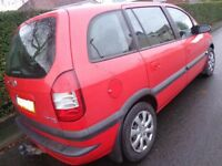 54 reg 7 seater vauxhall zafira 1.8 with towbar+mot till oct 2018 taxed DRIVEAWAY OR DELIVERY