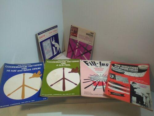 Lot of 6 Drum Instruction Books Monforte Fill ins, Joel Rothman