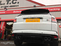 Range Rover SVR Proflow Exhausts Back Box Delete Twin Tip Tailpipes