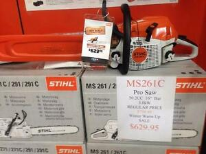 New STIHL PRO Saw MS261CM Winter Warm up SALE
