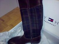 Tommy Hilfiger check pattern boots size 39/6