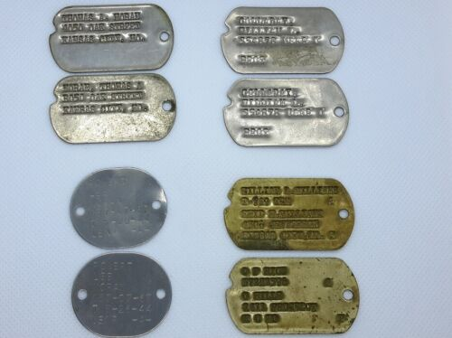 OLD VINTAGE LOT DOG TAGS. Some WW2. Vietnam