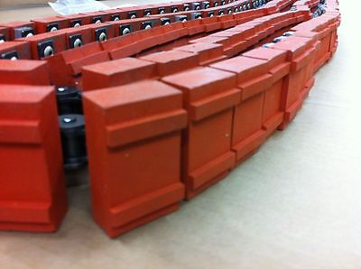 163 Hitachi Ansi-50 Attachment Roller Chain With Rubber Pads Conveyor Belt Part