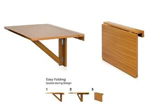 ... -Shelf-Drop-Leaf-Folding-Table-Working-Reading-Space-Saving-Dorm-NEW