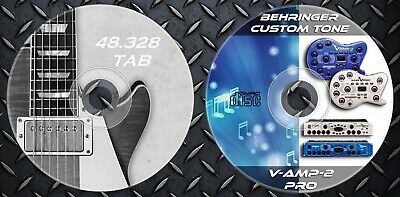 1.200 Patches Behringer V-AMP 2 & Pro. Effects. 48.000 Guitar Tablature TAB comprar usado  Enviando para Brazil