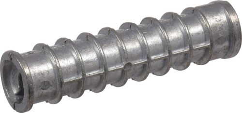 "(Qty 100) 3/8"" x 2-1/2"" Lag Shield Anchor Long Zinc Alloy 5/8"" Hole"