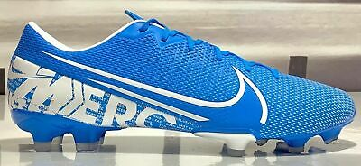 NIKE MERCURIAL VAPOR 13 ACADEMY FG MG SOCCER CLEATS SIZE 8 BLUE WHITE AT5269-414