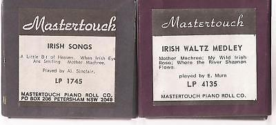 Pianola Rolls x 2 Mastertouch Australian - Irish Songs and Waltzes x 6 tunes