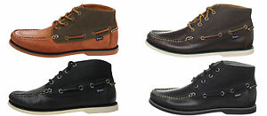 Polo-Ralph-Lauren-Mens-Brawley-Black-Brown-Mid-Hi-High-Lace-Boat-Shoes-Cukkas