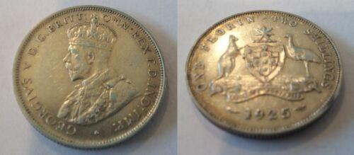 1925 Australia silver Florin-Nice
