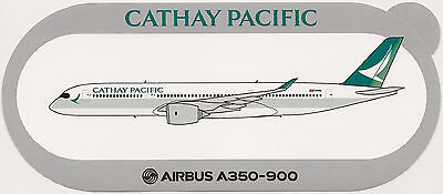 Official Airbus Sticker   Cathay Pacific Airways A350 900 In New Color