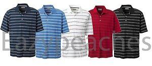 ASHWORTH-Golf-Mens-Size-S-3XL-4XL-High-Twist-Cotton-Tech-Stripe-POLO-Sport-Shirt