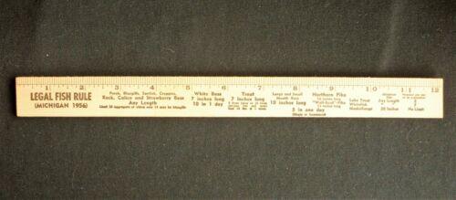 Vtg 1956 MICHIGAN Fishing Limit Ruler Advertiser SANDYS SPORT SHOP PONTIAC MI