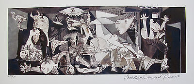 Pablo Picasso GUERNICA Estate Signed Limited Edition Medium Size Art Giclee