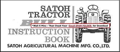 Mitsubishi Tractor Satoh Bull Operator Manual 2 Cylinder Ke130 138 Diesel Engine