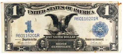 Series 1899 Silver Certificate One Dollar $1 Black Eagle Note