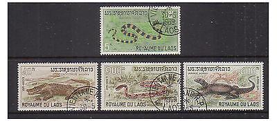 Laos - SG 223/6 - f/u - 1967 - Reptiles