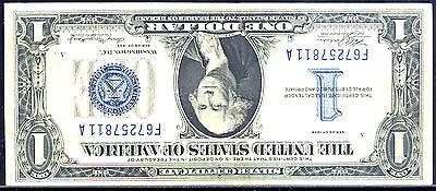 1934$1 SILVER CER ,FR # 1606 ERROR-INVERTED BACK