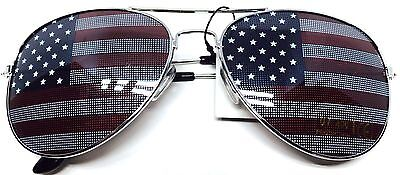 American USA Flag UV400 Aviator Sunglasses