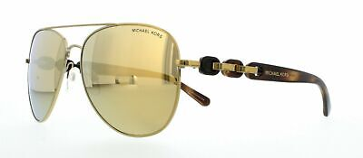 New Michael Kors Pandora sunglasses MK1015 11297P Gold Mirror Aviator 1015 chain