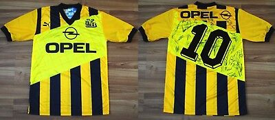 1990-1992 YOUNG BOYS SWITZERLAND PUMA HOME FOOTBALL SHIRT JERSEY #10 SIGNED RARE image