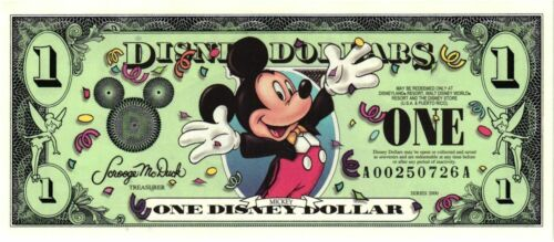 2000 Disney Dollar $1 Mickey Mouse   A Series  MINT - still in package