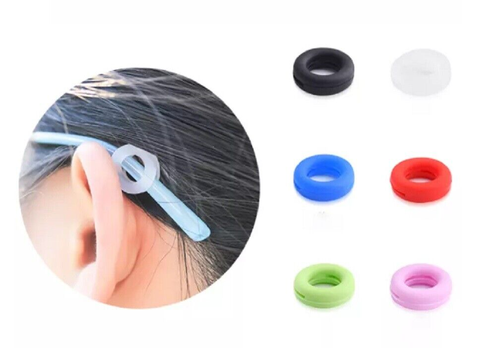 6 Pairs Anti Slip Glasses Ear Hooks Tip Eyeglasses Grip Temple Holder Silicone Eyeglass Straps, Cords & Grips