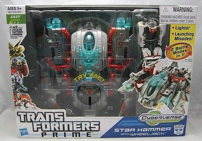 Transformers Prime Cyberverse : Star Hammer with WheelJack by Hasbro 2011