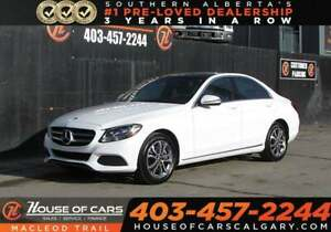 2017 Mercedes Benz C-Class 4MATIC® Leather / Sunroof / Back Up C