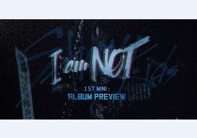 K-POP STRAY KIDS 1st Mini Album [I am NOT] 2Ver SET CD+Photobook+P.Card Sealed