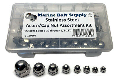 Stainless Steel Acorn/Cap Nut Assortment Kit - Marine Bolt Supply 8-110103