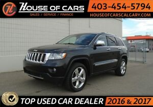 2012 Jeep Grand Cherokee Overland 4WD Fully loaded, Leather, Bac