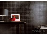Italian black leather effect tiles