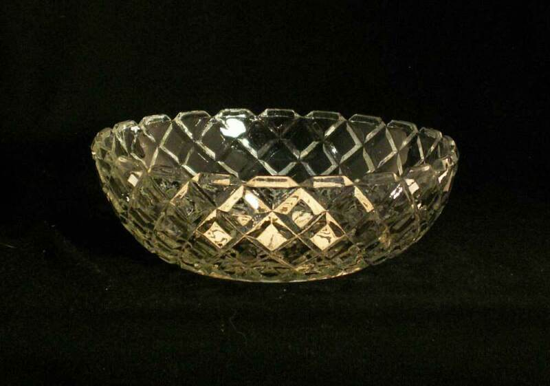 "Anchor Hocking Waterford Cereal Bowl 5-1/2"" Clear Glass AKA Waffle USA bfe0782"
