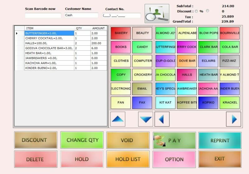 Liquor Store POS Software, Touch / Non Touch compatible   : Download Link ONLY